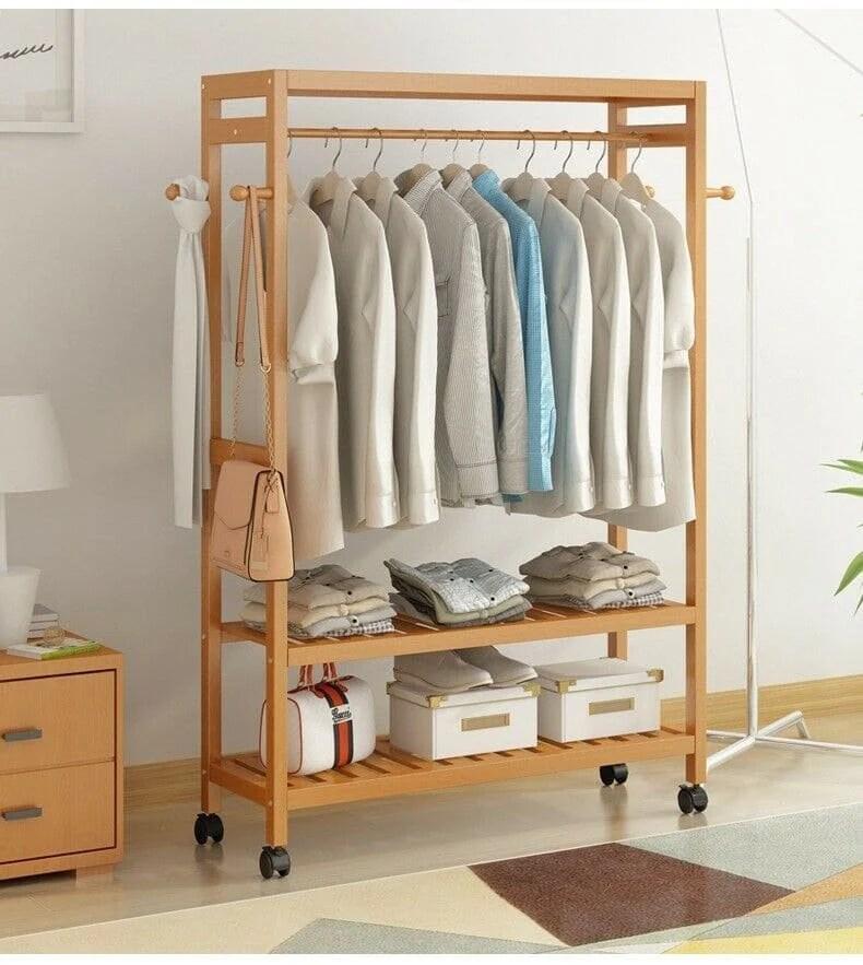 k rack wall leaning clothing garment