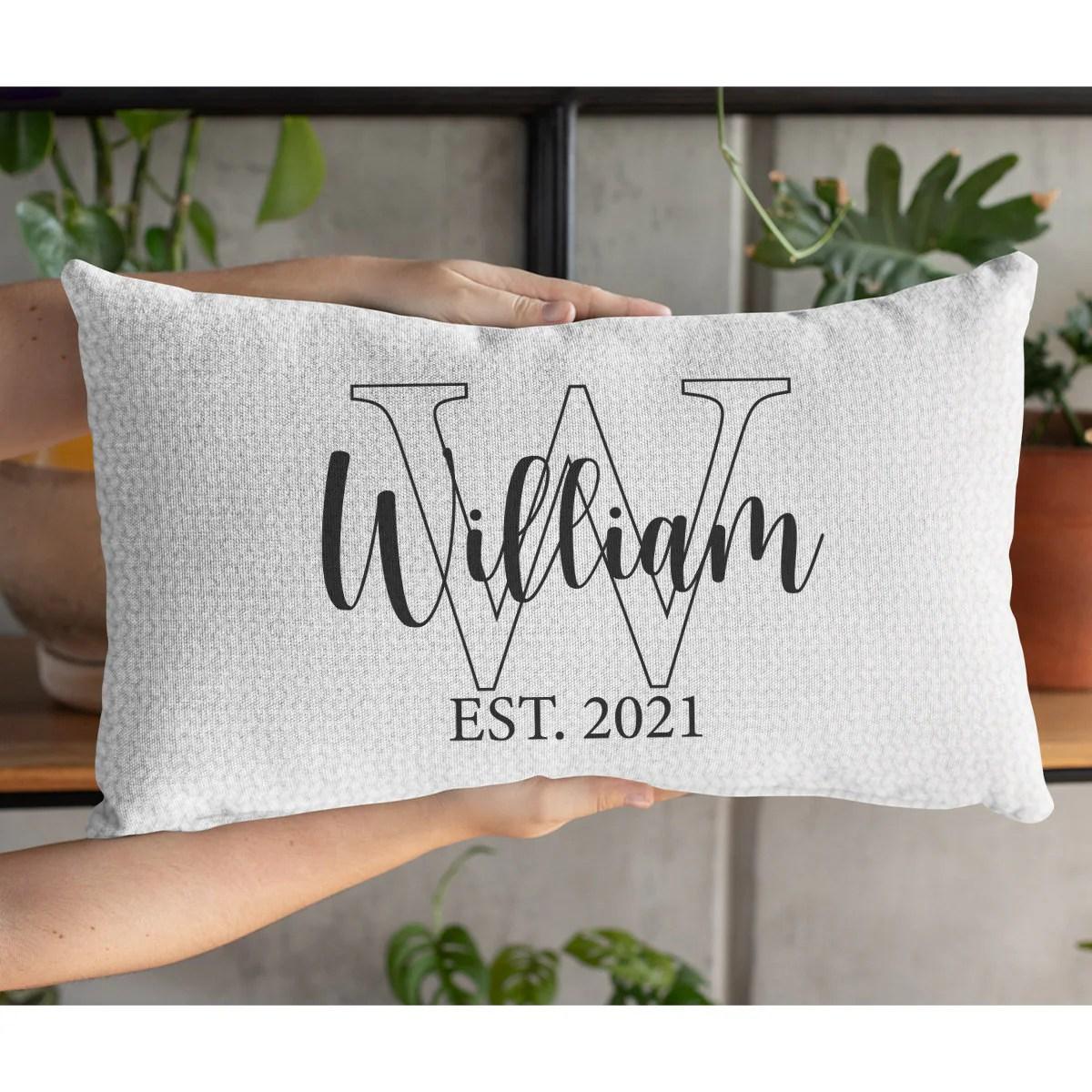 last name pillow custom family pillow