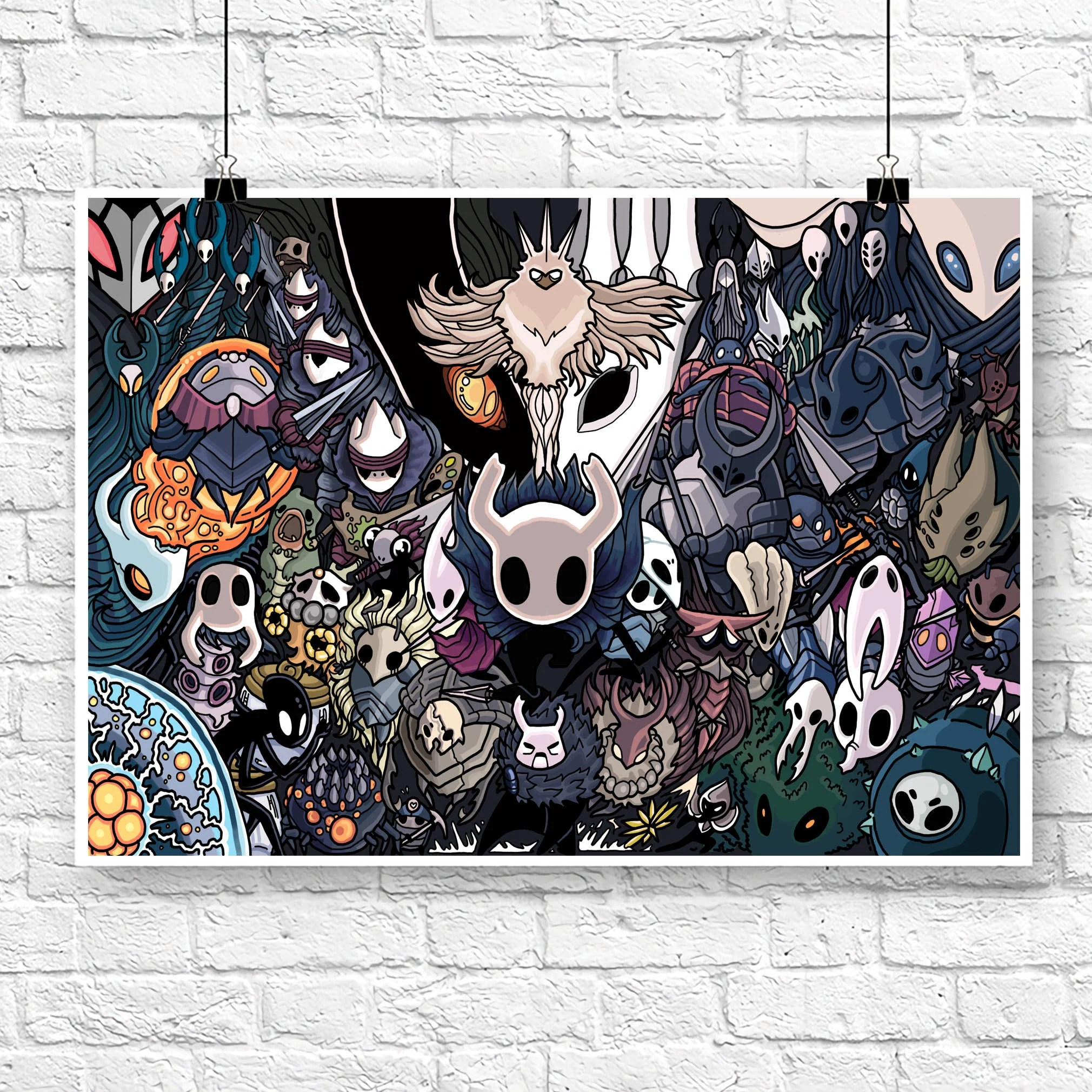 hollow knight poster etsy