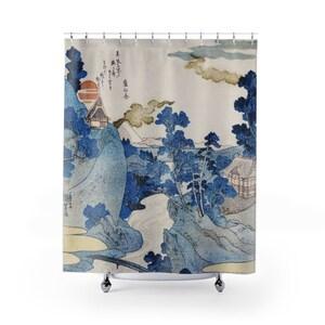 japanese shower curtain gojira shower