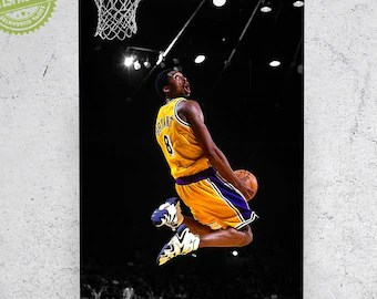 lakers poster etsy
