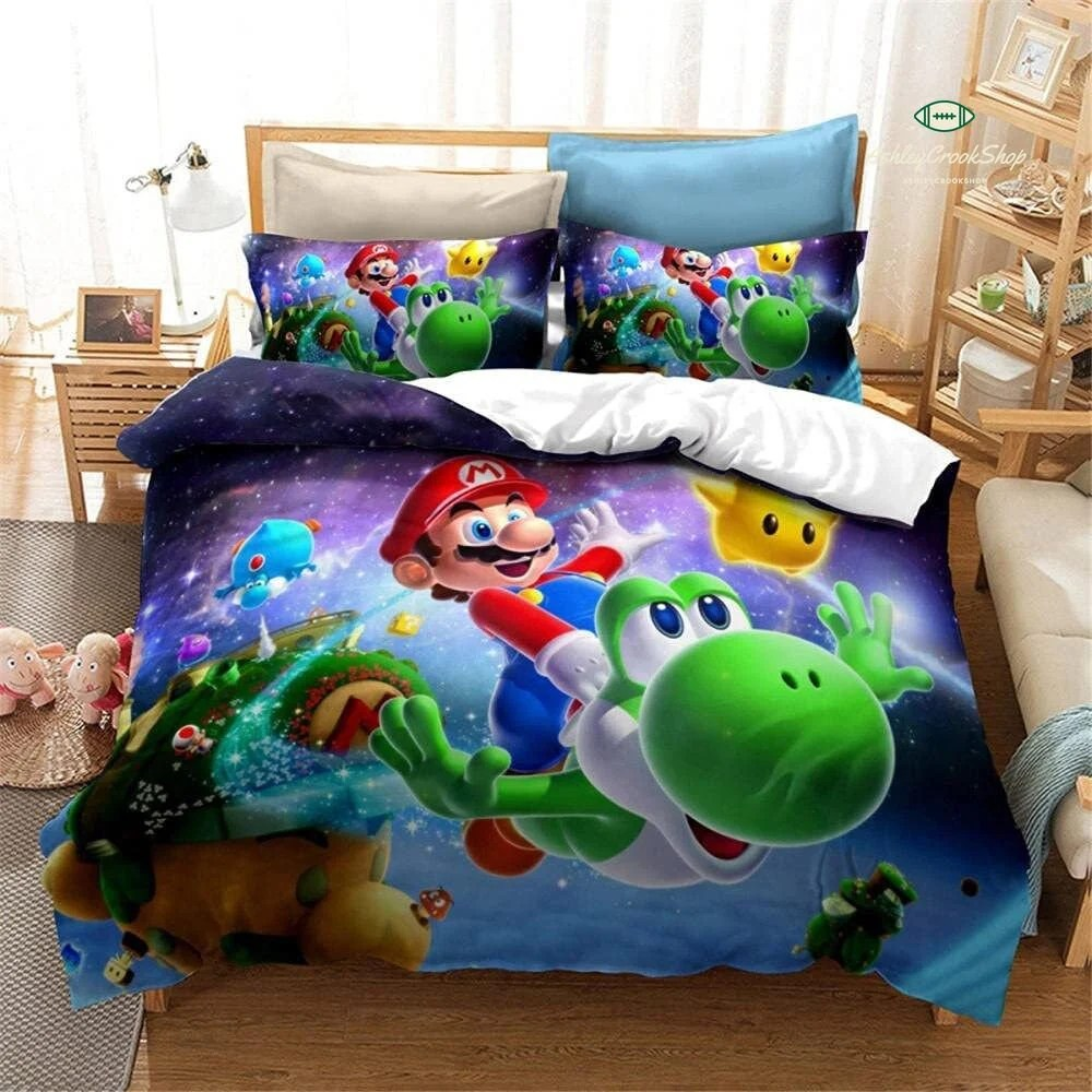 Watch.the game has the same vintage feel as the nes classic that launched a monumentally successful franchise. Super Mario Blanket Etsy
