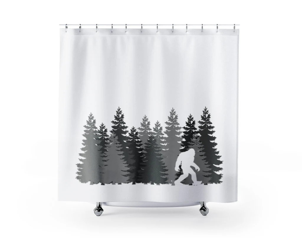 sasquatch curtains etsy