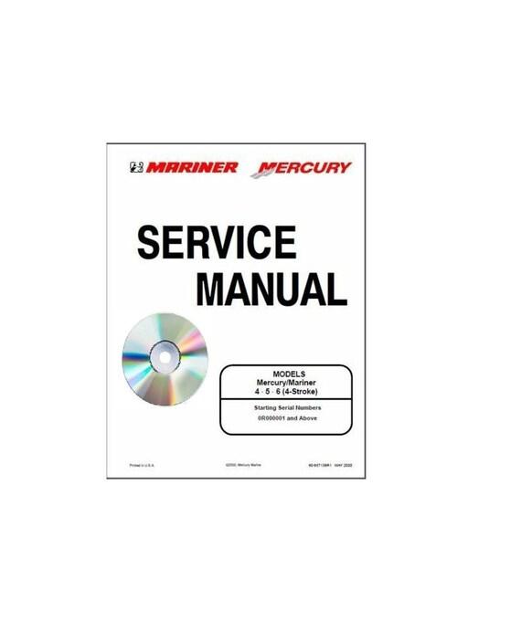 Mercury Mariner 4 5 6hp 4Stroke Service Shop Repair Manual