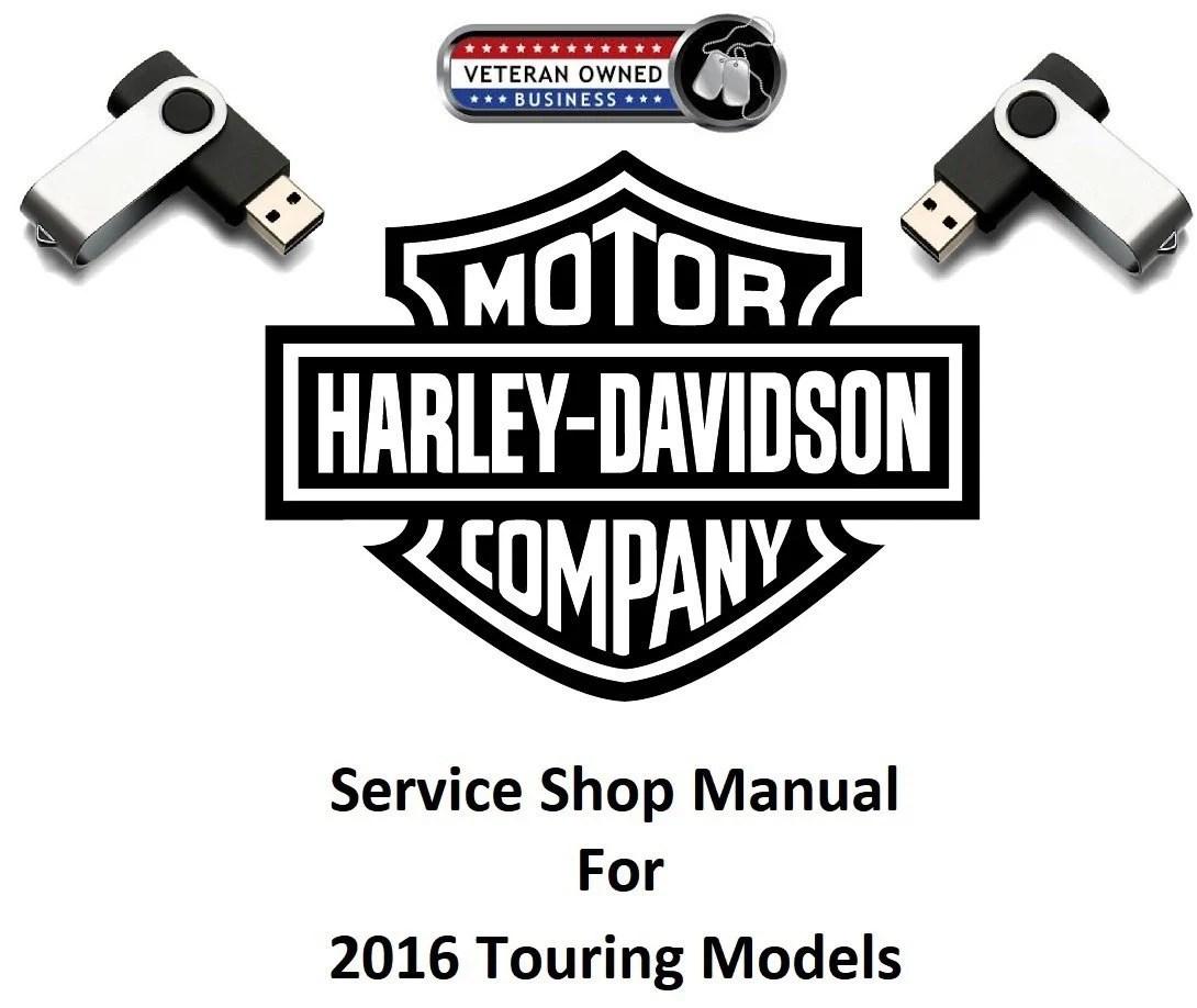 2016 Harley Davidson Touring Models USB Service Shop