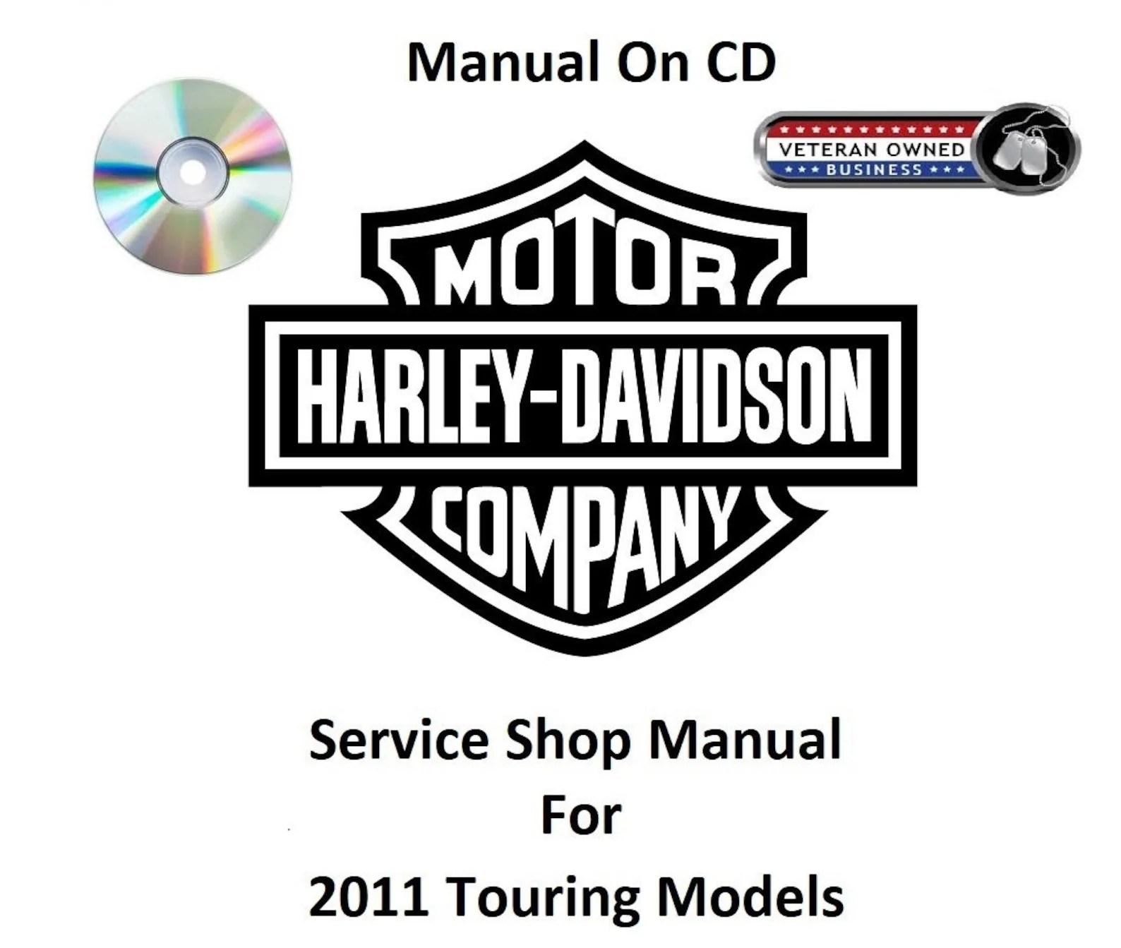 2011 Harley Davidson Touring Models CD Factory Service