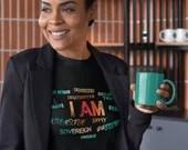I AM - Free, Creative, Sovereign, Focused, Brave - Savvy Sunrise Short-Sleeve Unisex T-Shirt