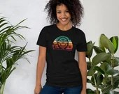 Be Creative, Get Clever, Stay Savvy Short-Sleeve Unisex T-Shirt in Orange Teal - Savvy Sapien - Smiling Monkey, Happy Monkey, Rainbows