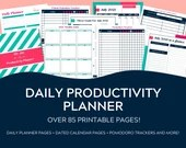 Daily Productivity Planner | Goal Planner Printable | Daily Goal Planner | Printable Planner| Goal Planning Template | Printable Calendar