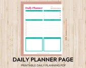 Printable Daily Planner Page with Daily Schedule, Goal Planner, Gratitude Journal and To-Do List
