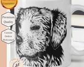 Lab Mug - Black and White Dog Sketch Mug - Dog Lover Gift