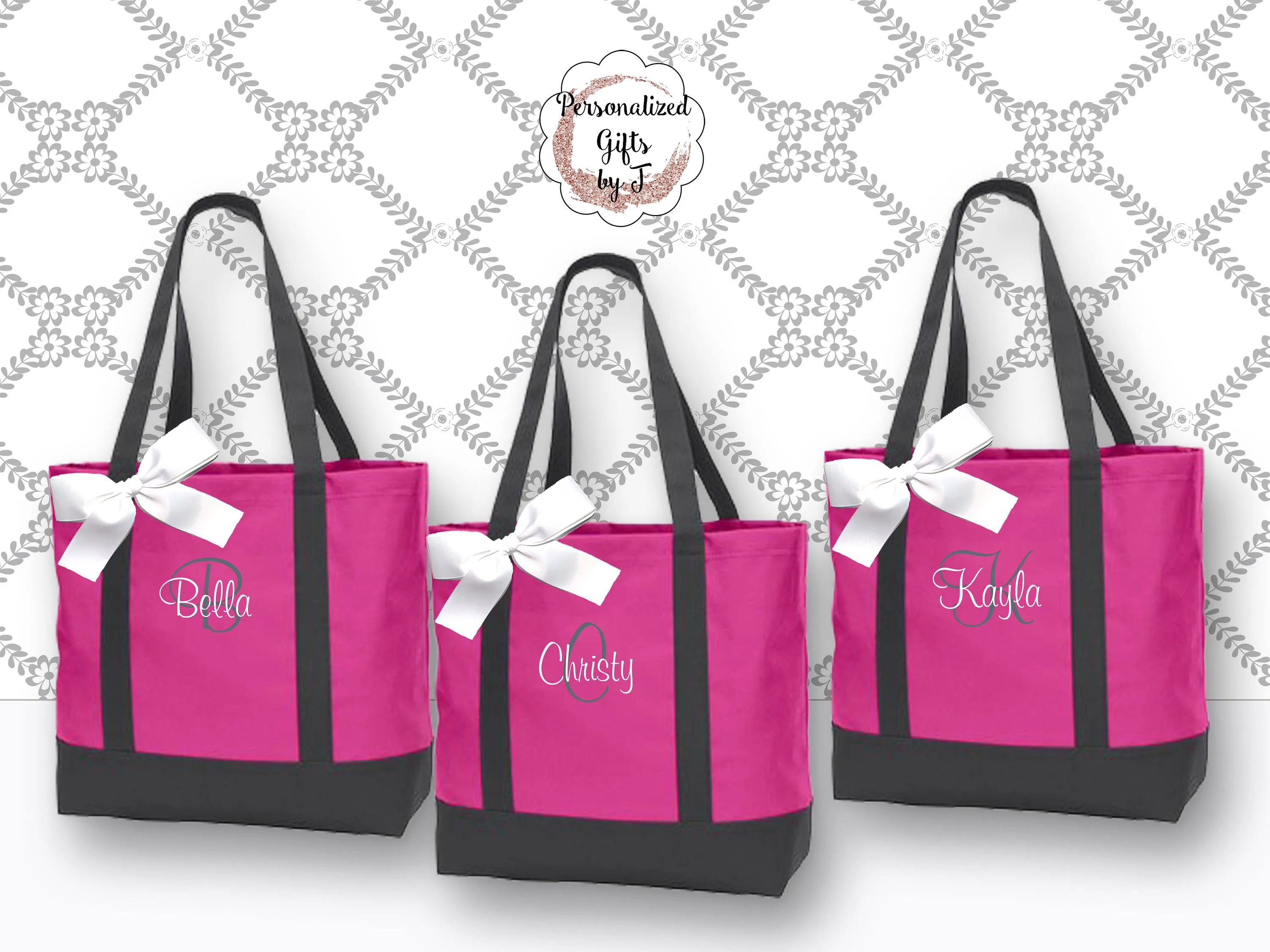 Personalized Beach Tote Bridesmaid Bags, Bridesmaids Gift