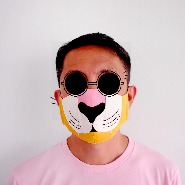 tiger face mask anti