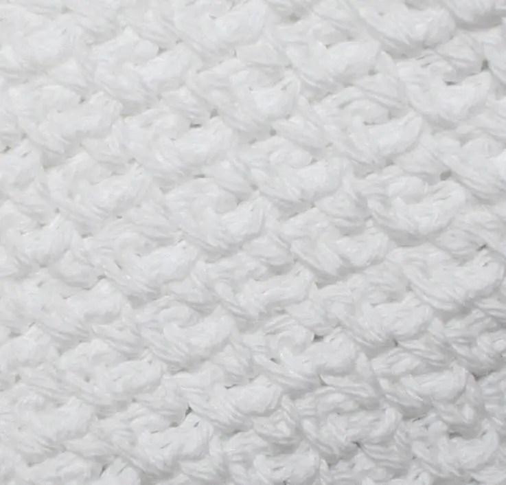 Easy Crochet Dishcloth Pattern 3 Sizes Woven Look DIY