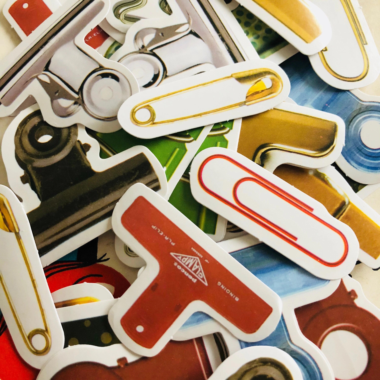 45pcs vintage fastener stickers