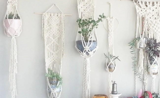 Shabby Chic Hanging Planter Wall Accent Bohemian Decor