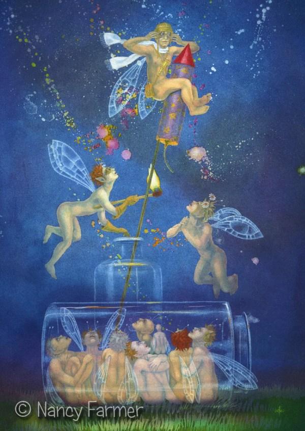 Large Fairy Art Card Birthday