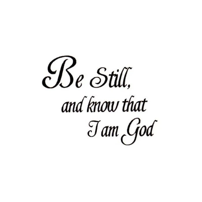 Be Still Christian bible verse UNMOUNTED rubber stamp