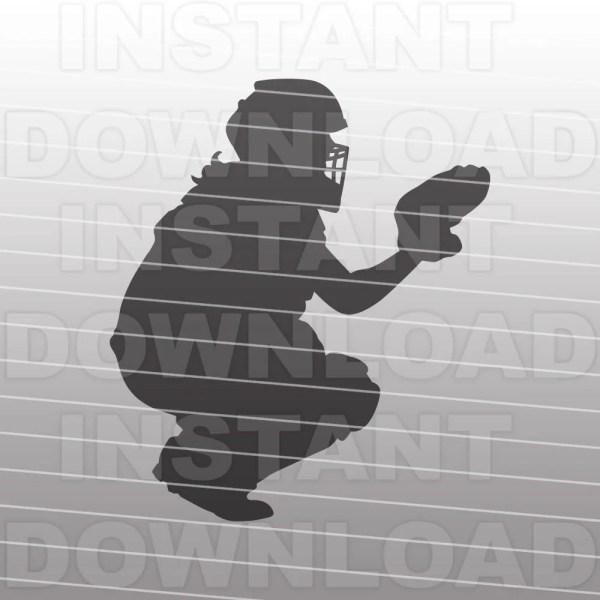 Fastpitch Softball Catcher Svg Filecricut Svgsilhouette