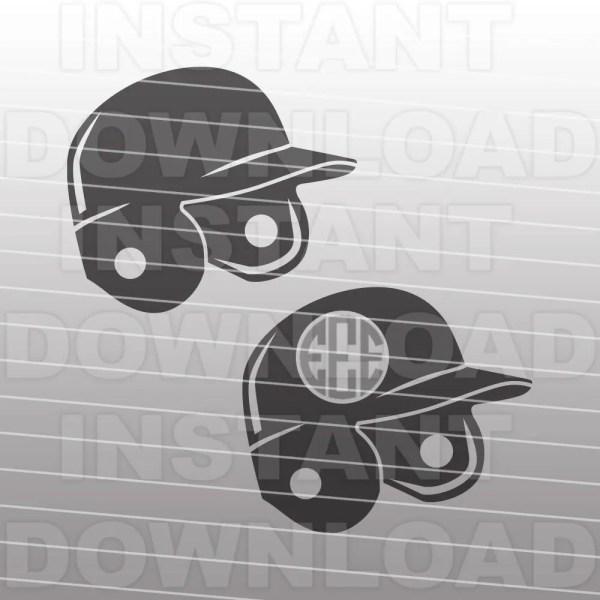 Batting Helmet Svg Filesoftball Svgfastpitch Softball