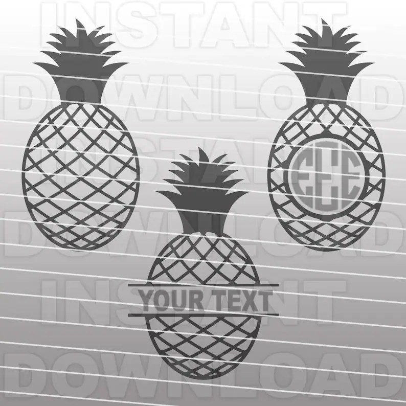 Download Pineapple Monogram Designs SVG File Cutting Template-Clip ...