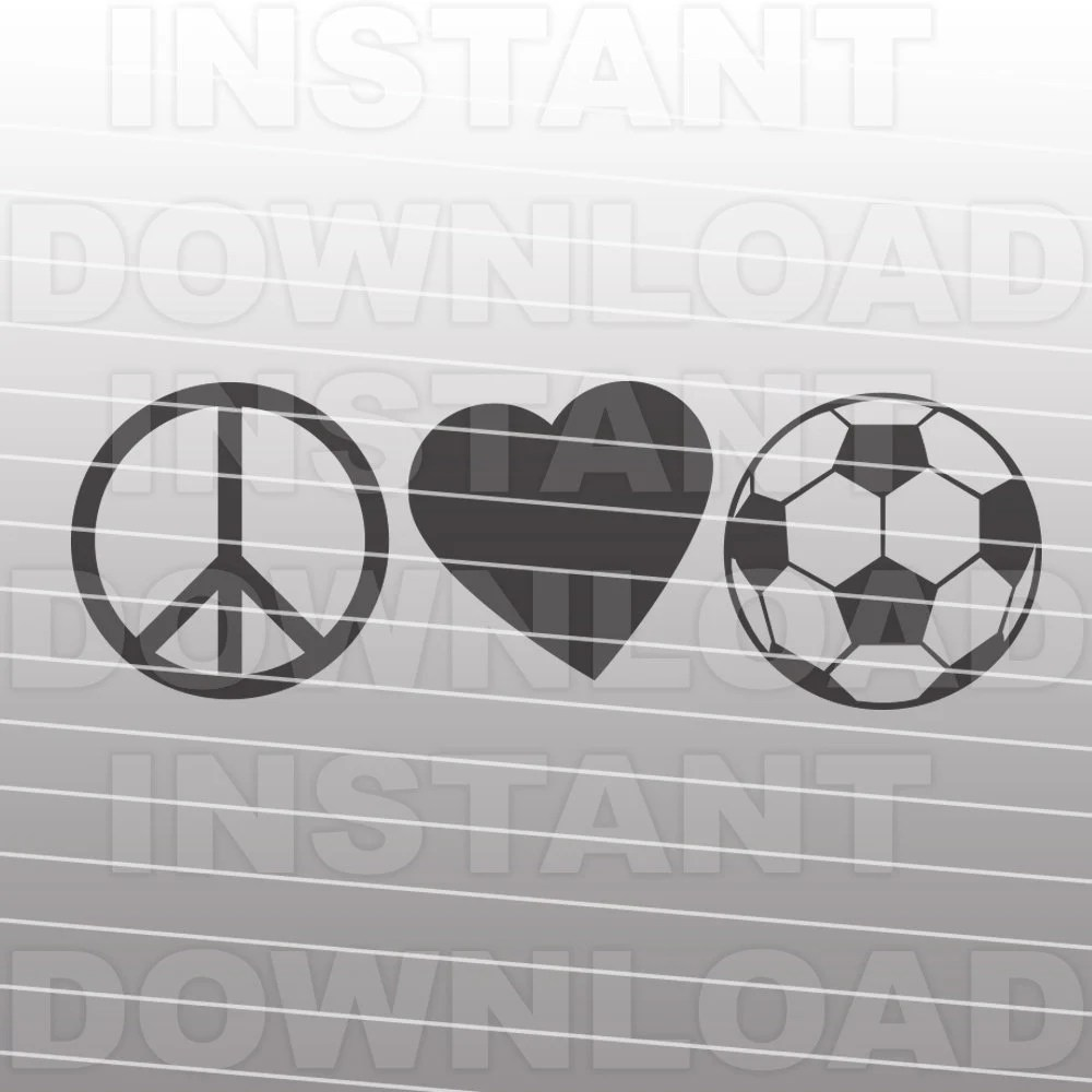 Download Peace Love Soccer SVG File Girls Soccer SVG Vector Clip | Etsy