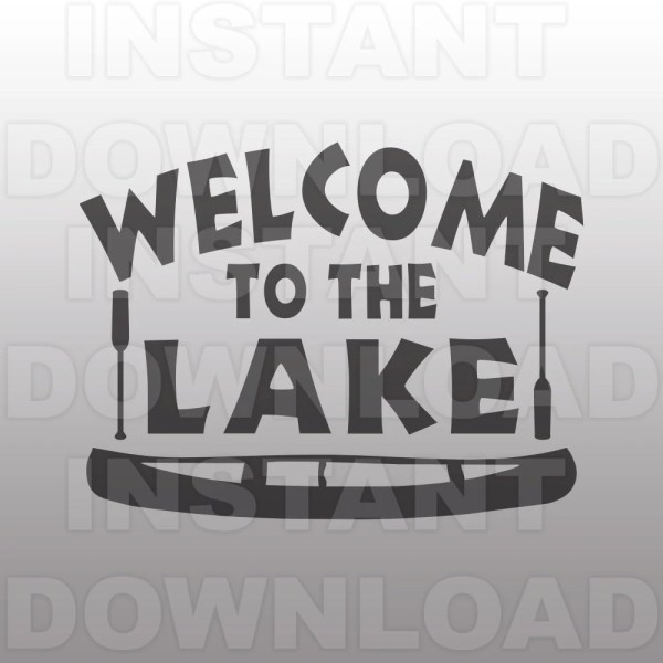 Lake Canoe Svg File Commercial & Personal