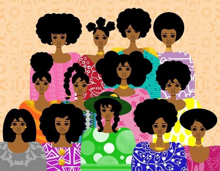 Baker S Dozen Art Print Natural Hair Girls Illustration Etsy
