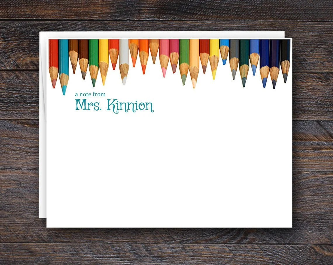 Flat Note Card Set for Te...