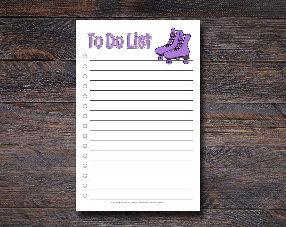 Rollerskates To Do List N...