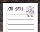 Elephant To Do List - Cut...