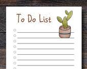 Cactus To Do List Pad - S...