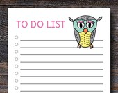 Owl To Do List Notepad - ...
