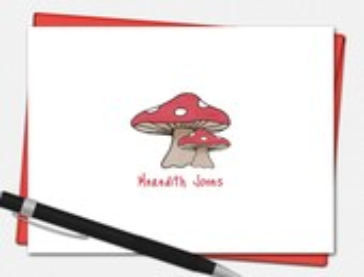 Personalized Mushroom Not...