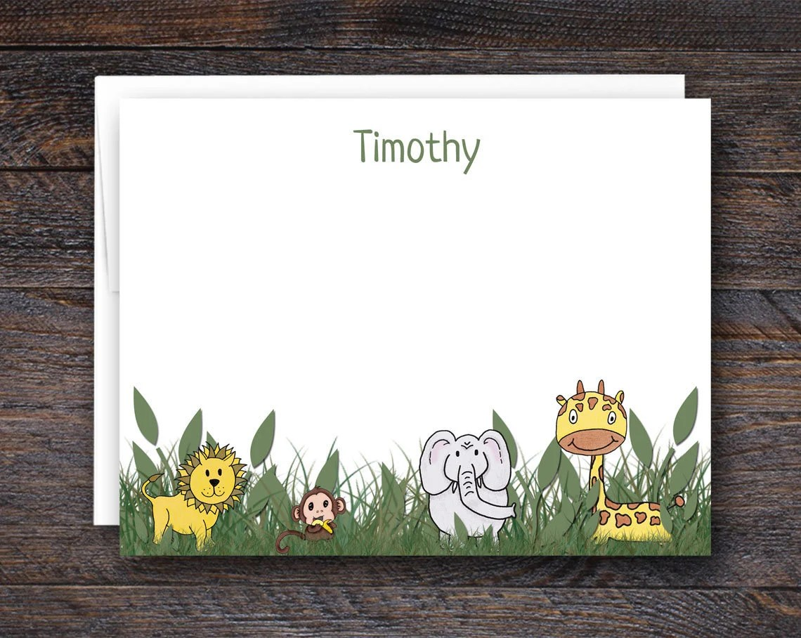 Safari Note Cards | Perso...