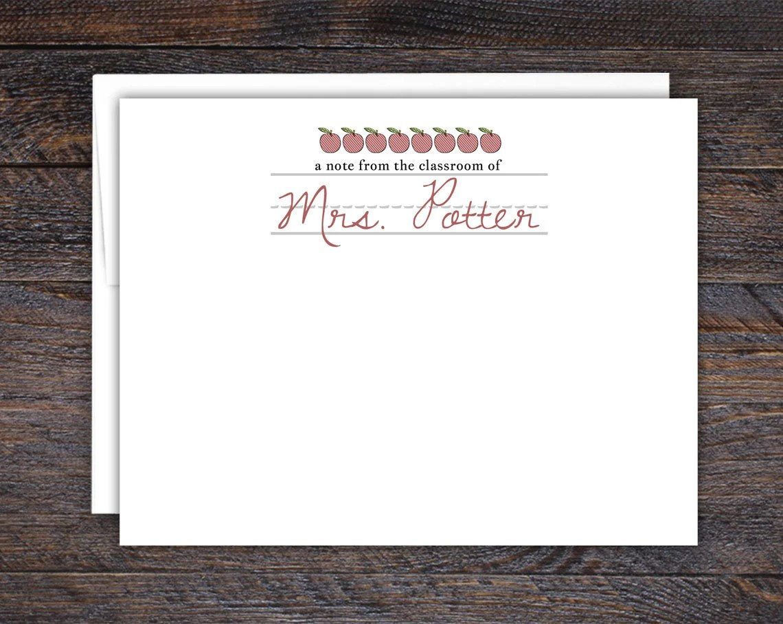 Flat Note Cards for Teach...