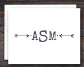 Monogrammed Note Cards fo...