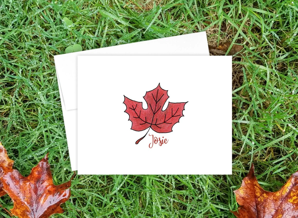 Personalized Fall Note Ca...