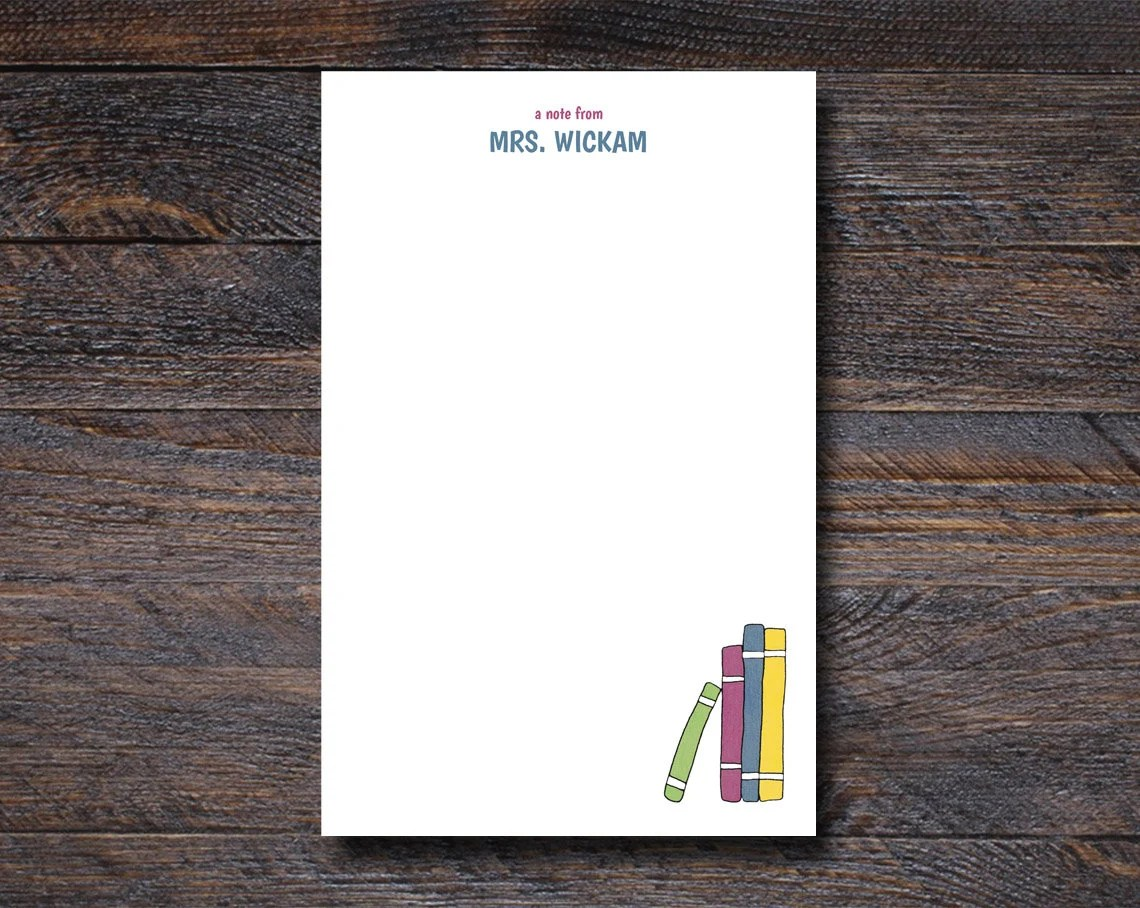 Stack of Books Notepad - ...