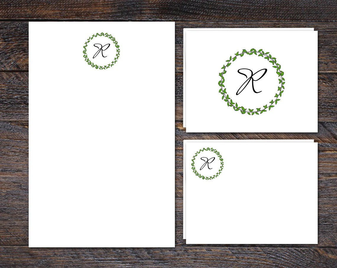 Monogram Stationery Set |...