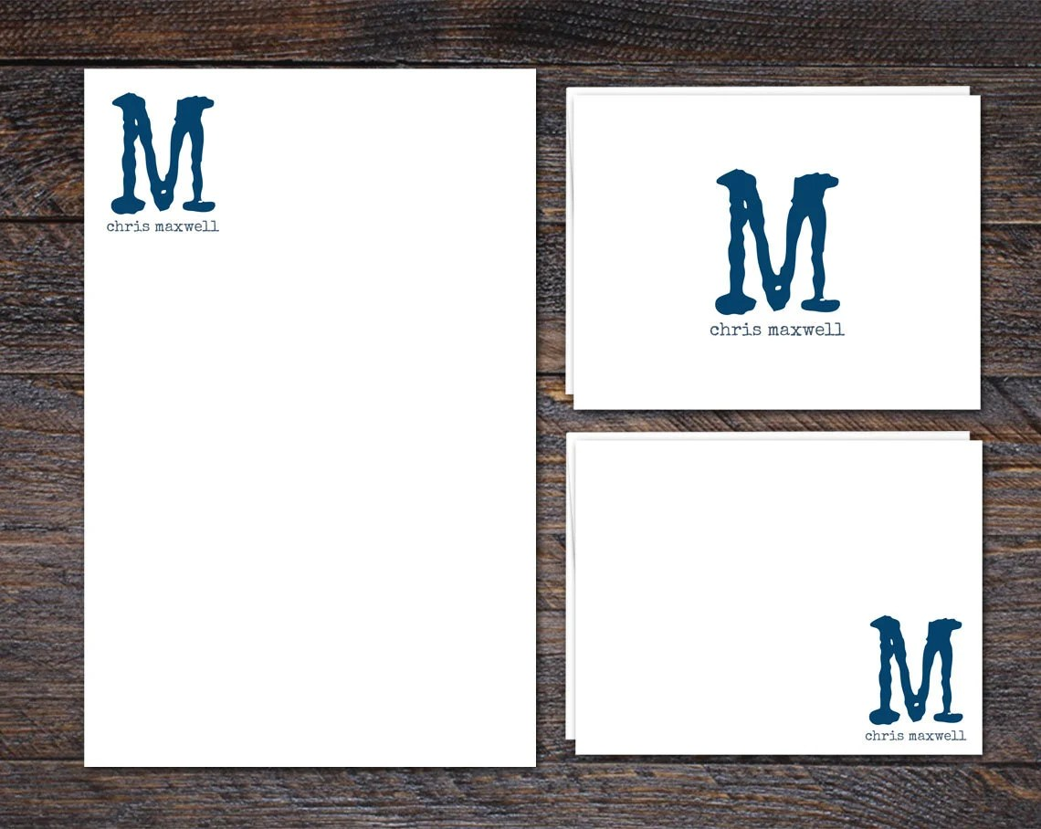 Monogram Stationery Set f...