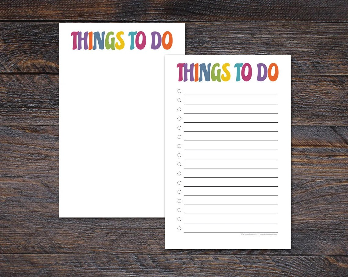 Colorful Things To Do Not...
