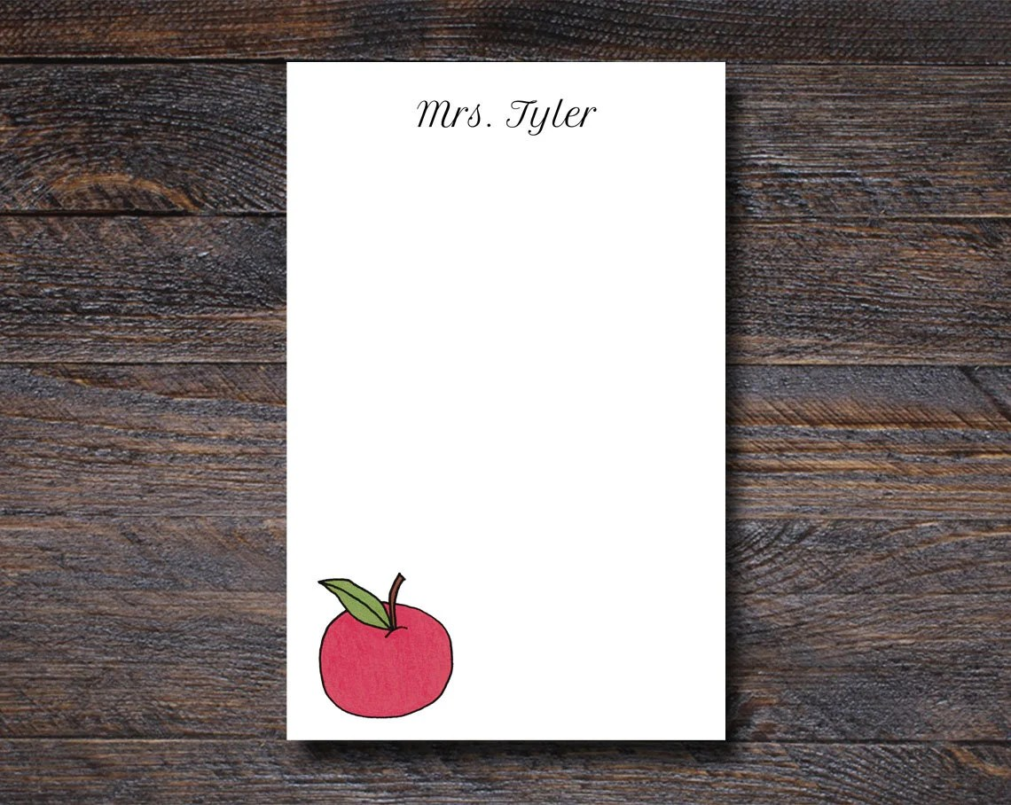 An Apple For Teacher Note...
