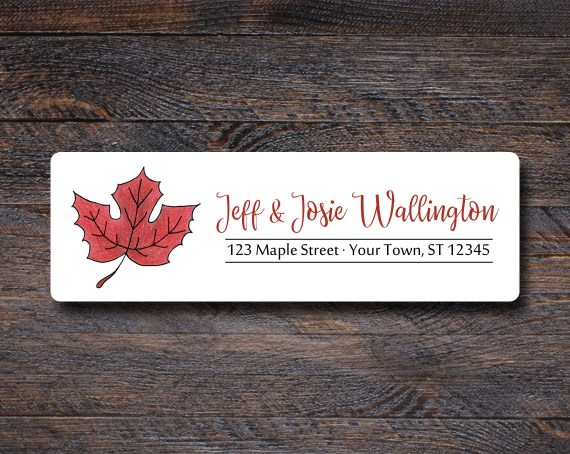 Maple Leaf Address Labels