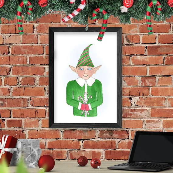 Mr. Elfy-Elf Christmas Wall Decor