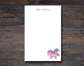 Personalized Unicorn Note...