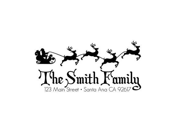custom christmas return address