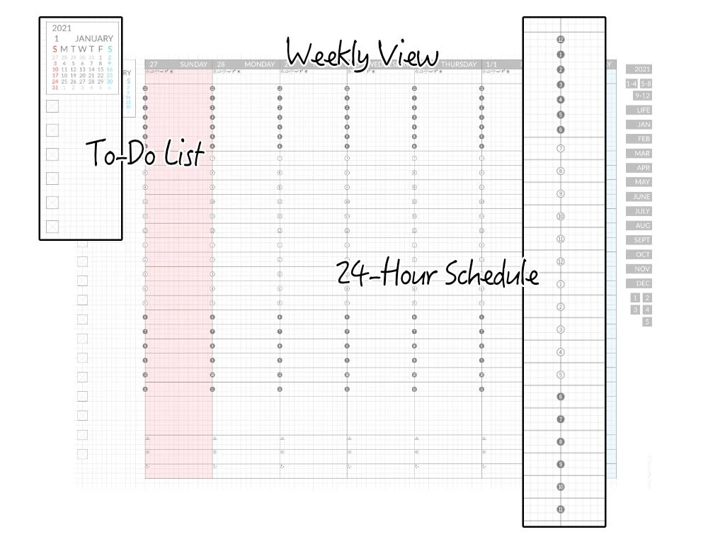 2021 Clean Minimalist Digital Techo PDF Planner for iPad | Etsy