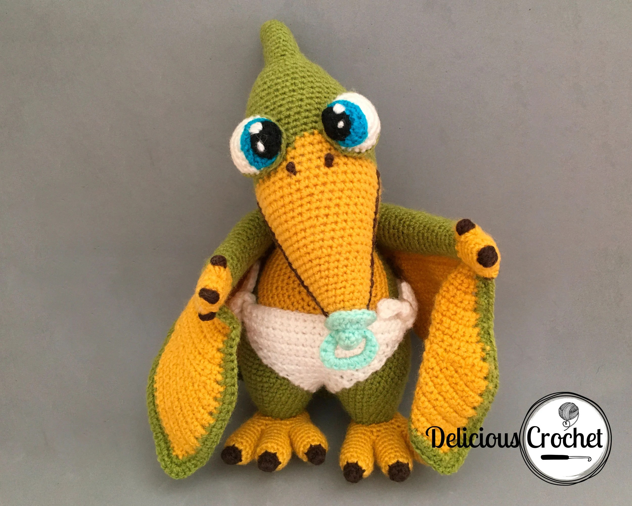 Cutie garden is a game that is hard to stop playing. Amigurumi Pattern Crochet Baby Pterosaur Dinosaur DIY