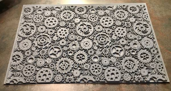 Mega Steampunk Swirl Rubber Texture Tile Stamp Clays